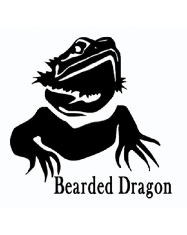 Bearded Dragon vinyl sticker head shot
