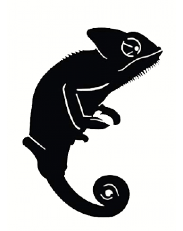 Chameleon vinyl sticker -black