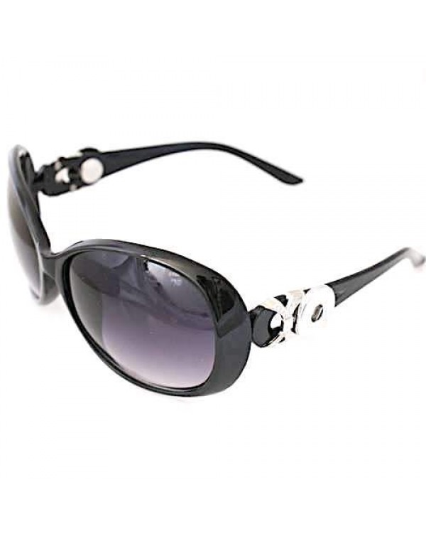 Monarch Bijoux - Black Cross - Sunglasses (Snap Line)