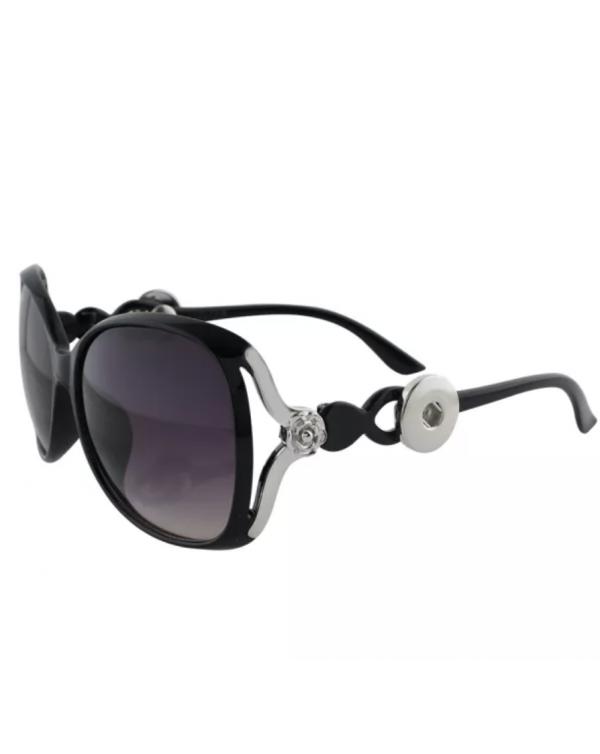 Monarch Bijoux - Black Rose  - Sunglasses (Snap Line)