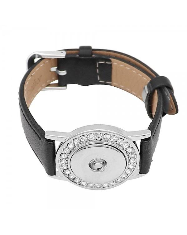 Monarch Bijoux - Bejewelled Watchband - Black Bracelet  (Snap Line)