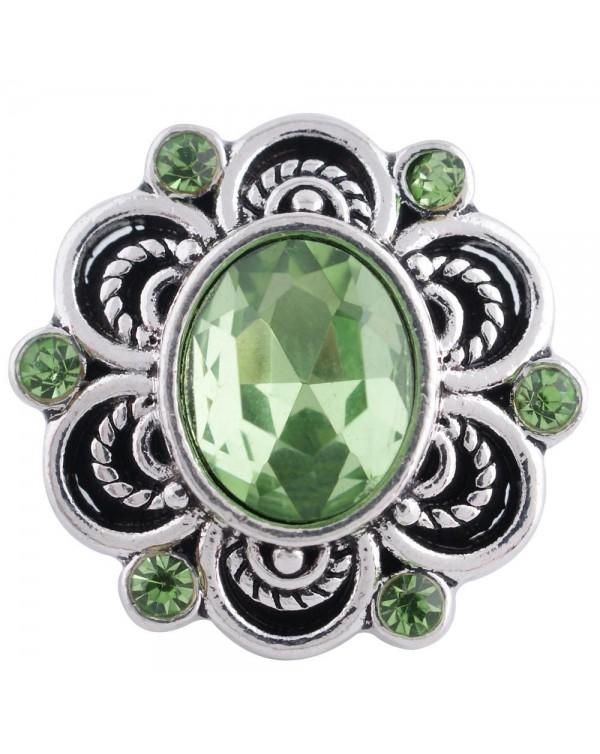 Monarch Bijoux -  'Celtic Green Charm'  - Classic Snap  (Snap Line)