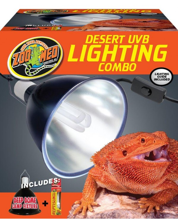 Zoomed Deep Dome and UVB Light Lamp Fixture - large