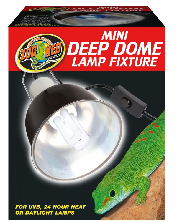 Zoomed Deep Dome Lamp Fixture