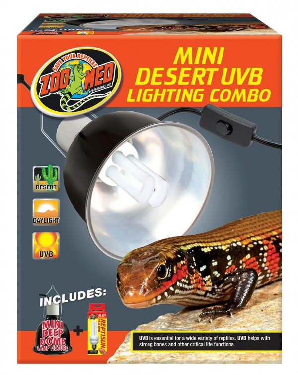 Zoomed Deep Dome and UVB Light Lamp Fixture - Mini