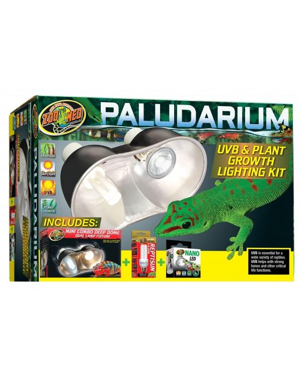 Zoomed  Paludarium UVB & Plant Growth Lighting Kit